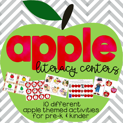 Apple themed literacy centers