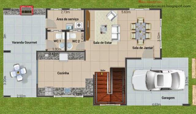 Plano de casa de dos plantas planos de casas gratis y for Diseno de casa de 9 x 12