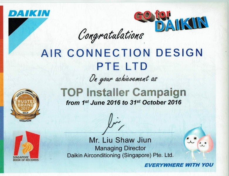 daikin top installation campaign air connection design