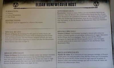 Formación Warhammer 40.000 Eldar Runeweaver host