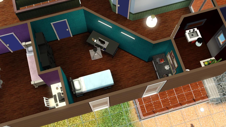maison de sims white sun maison moderne sims 3. Black Bedroom Furniture Sets. Home Design Ideas