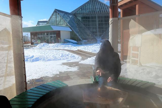 北海道 函館熱帯植物園 足湯