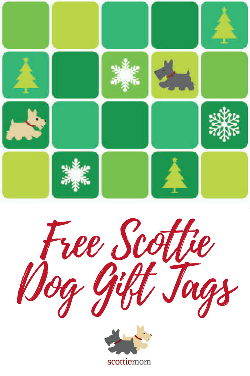 Free, printable Scottie Dog Gift Tags