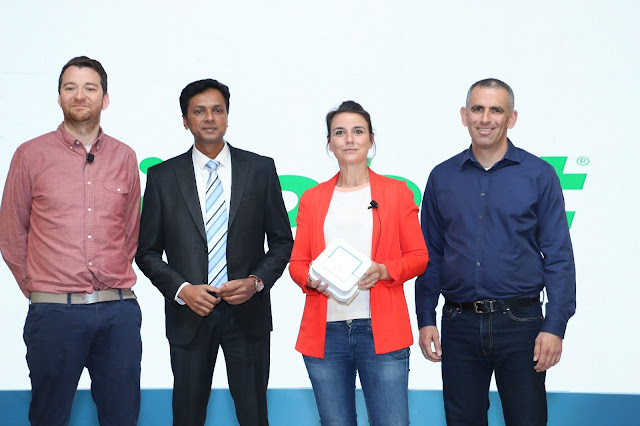Gavin Wilmot, Sales Manager, EMEAI, iRobot, Pulak Kumar Satish, Head of Busines Development, Puresight Systems Pvt Ltd, Marie Chevalier, Product Manager, EMEA, iRobot & Asaf Merary, Director, India-min