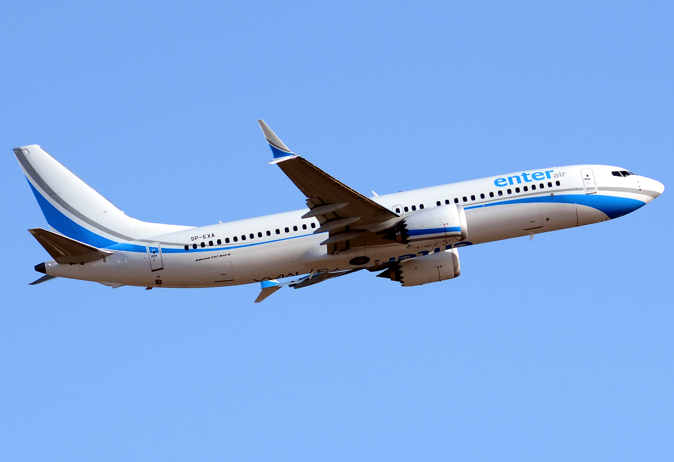 Enter Air Boeing 737 MAX 8 Climbing
