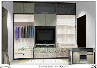 lemari minimalis baju tv unit Wave