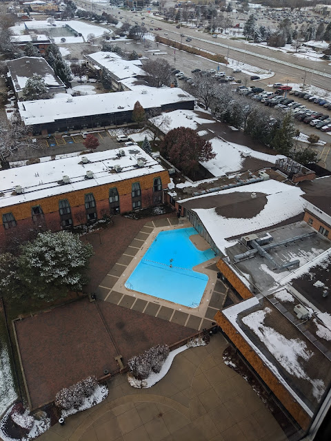 Perfect Winter Weekend at Pheasant Run Resort view from tower room