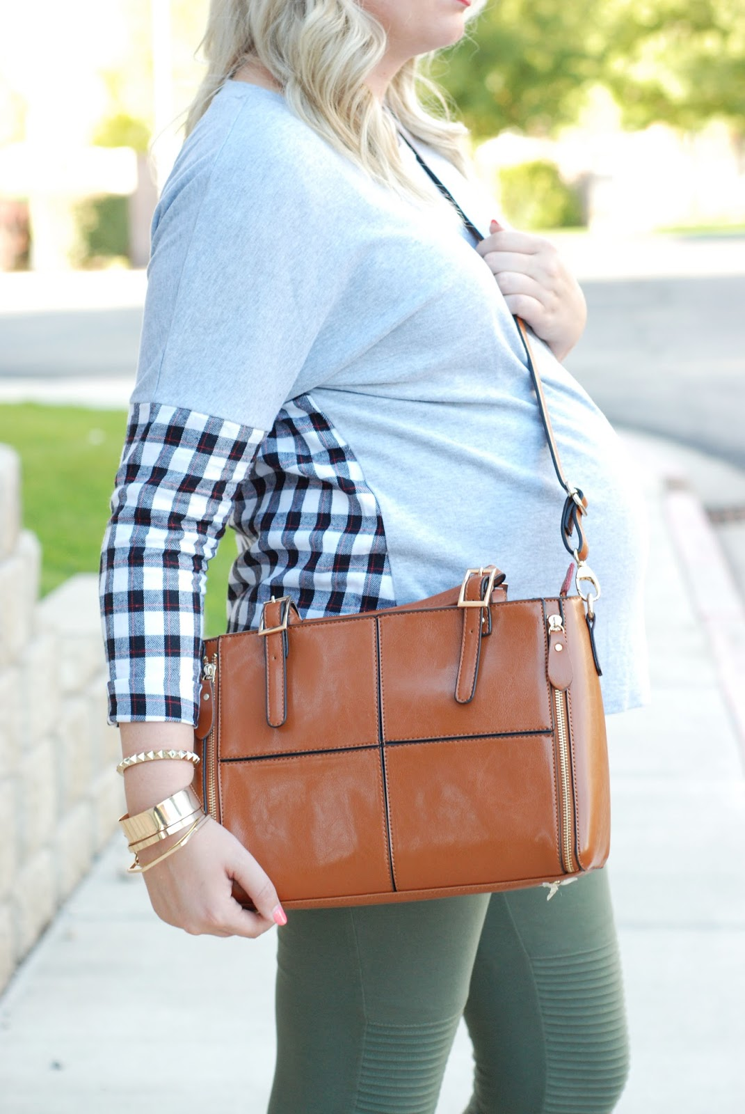 Fall Purse, Choies, Plaid Shirt