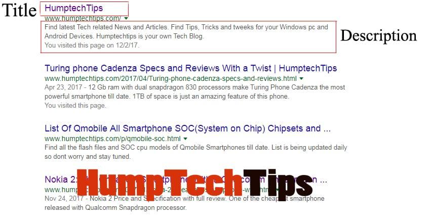 SEO META TAGS blogger. Search display by SEO META TAGS