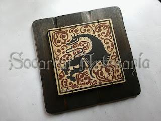 Este socarrat esta rica decoración se encuentra en el museo de cerámica de Paterna. Soc-Art
