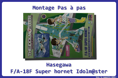 Montage  F/A-18F The Idolmaster Hasegawa 1/48.