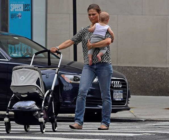 Crown Princess Victoria with Prince Oscar in New York, Crown princess Victoria style tods flat shoes