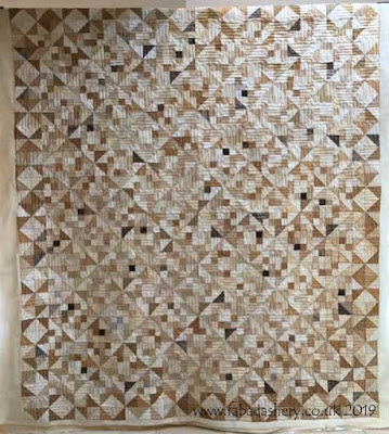 Neutral Fabric quilt made by Carys,  quilted by Fabadashery Longarm Quilting