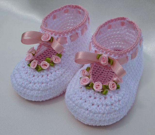 Para En Tejido Zapatos Crochet Nino zapatos Bebe Nina Pv8ynwmN0O