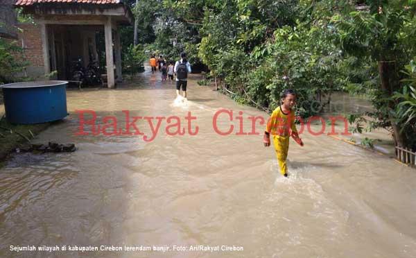 dave kunjungi wilayah kabupaten cirebon yang terendam banjir