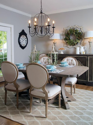 Desain ruang makan vintage