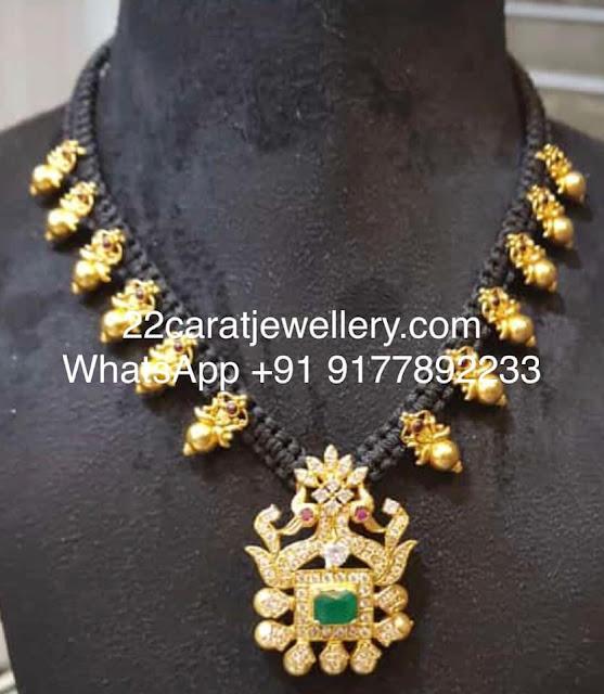Black Thread Pretty 925 Silver Necklaces