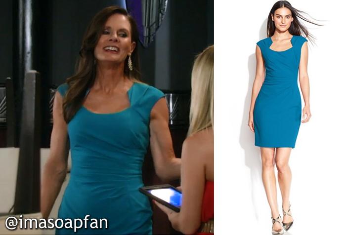 Lucy Coes Cerulean Blue Cap Sleeve Dress General Hospital Season
