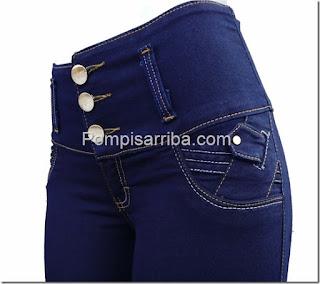 Quien vende jeans pompis arriba Pantalones de mezclilla para dama de mayoreo corte colombiano
