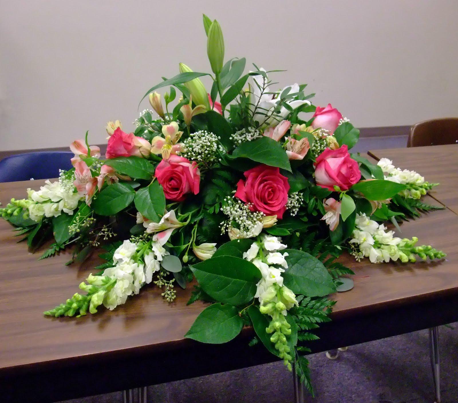 A casket spray | Casket flowers, Funeral flowers  |Casket Flowers