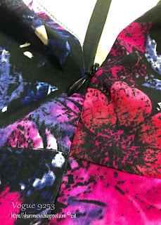 Vogue 9253 Invisible Zipper Seam Matching Sharon Sews sewing blog