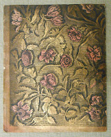 A binding with a floral pattern.