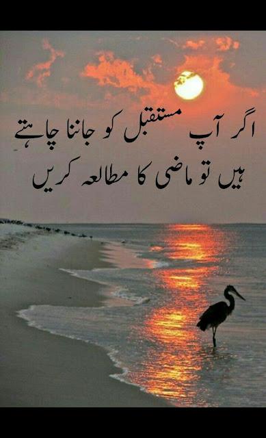 Best Inspiring Quotes in Urdu images - ager app mustakbil ko janna chahty hain