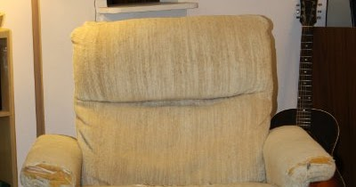 Cotton Recliner Chair Covers Black Accent The Eco Cat Lady Speaks: Quick And Easy No-sew Slip Cover