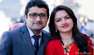 Nisha Aryal & Santosh Tiwari,Best Nepali Smiling Couple