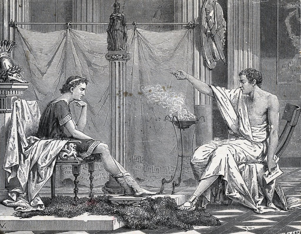 Aristotle Teaching a Young Alexander the Great