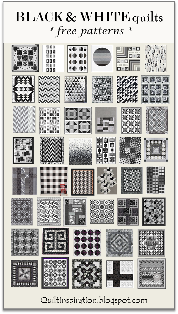 Black And White Quilt : black, white, quilt, Quilt, Inspiration:, Pattern, Black, White, Quilts