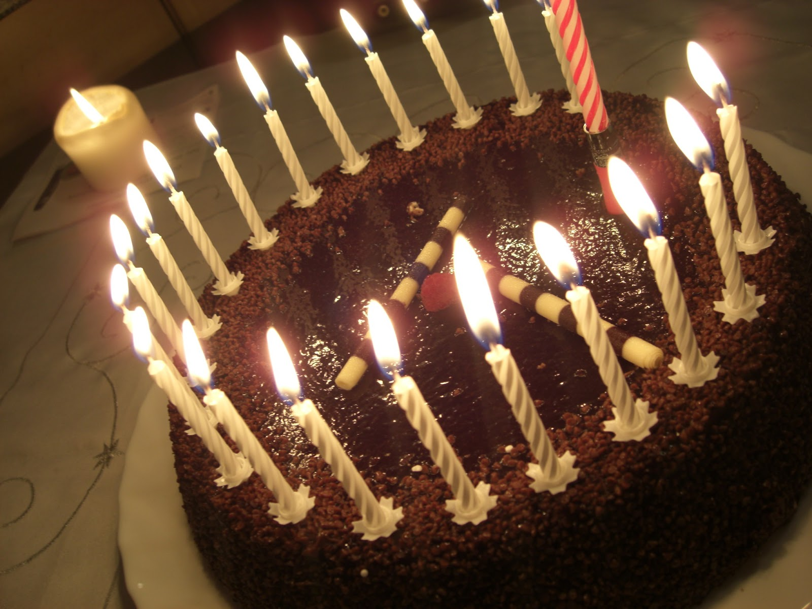 circleofchaos: My Birthday Cake And Advent Candles