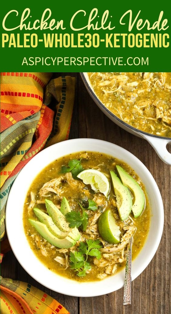Paleo Chicken Chile Verde