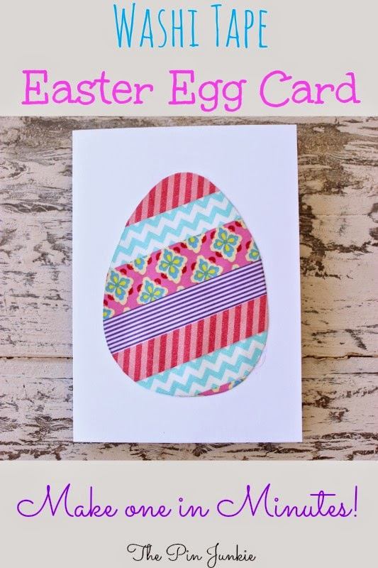 washi tape easter egg card