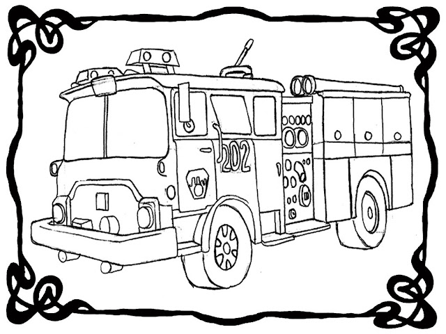 Fire Engine Coloring Pictures