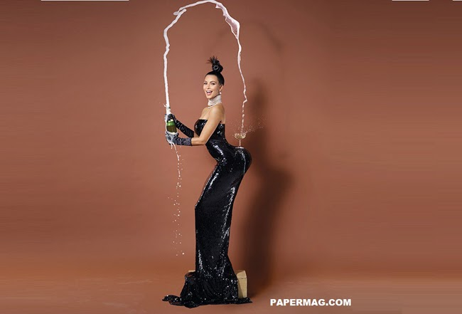 Cover Photo of Kim Kardashian 'Break the Internet' on Paper Magazine