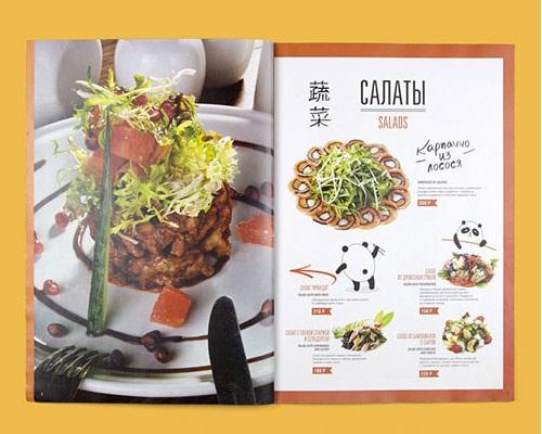 Một mẫu menu đẹp cho nhà hàng Trung Quốc