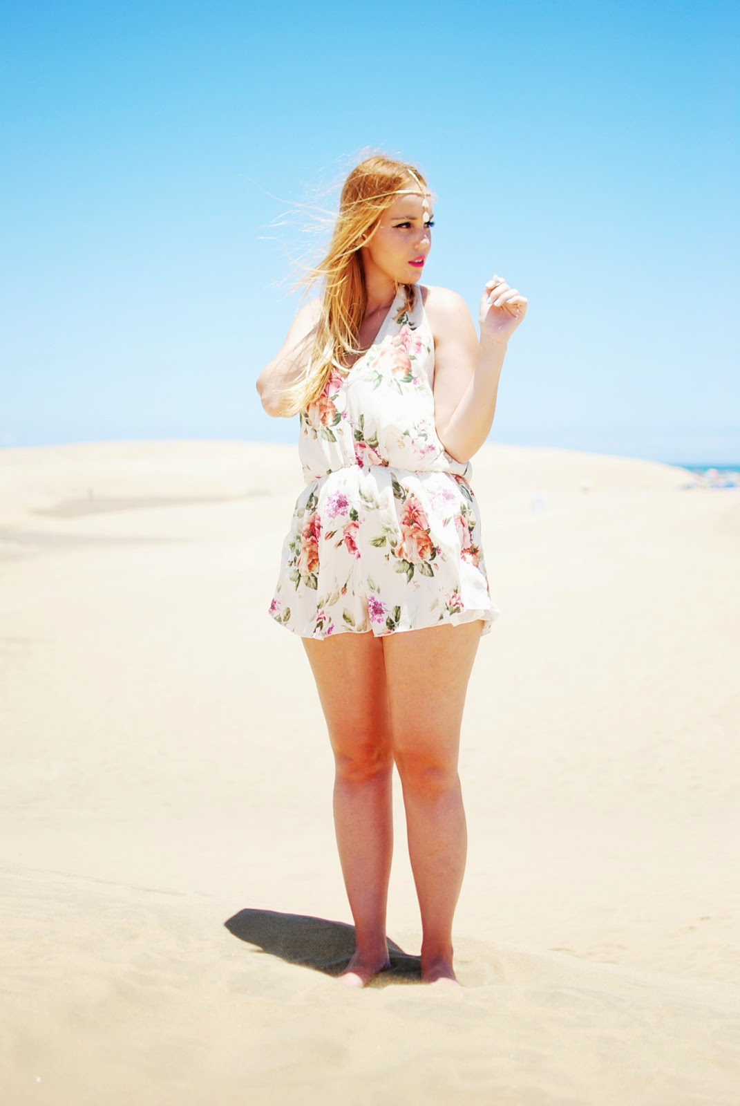 nery hdez, inlovewithfashion, playsuits, head band, jollychic, floral print, estampado flores