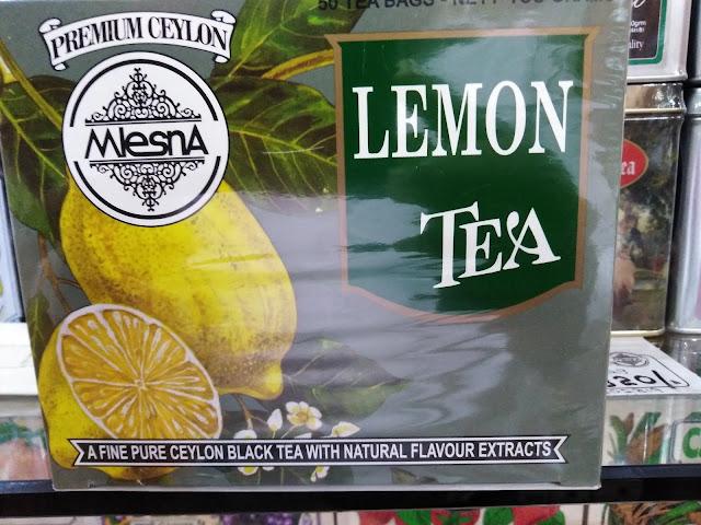 Mlesna Pure Ceylon Lemon  Black Tea with Lemon Flavour 50 Tea Bags (100g) 1 Box.