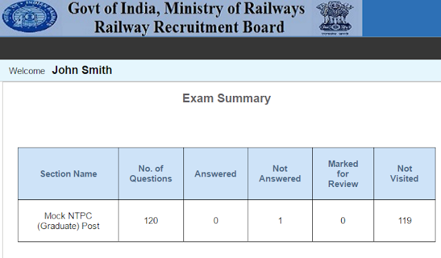 RRB Mains Online Test, RRB NTPC Mock Test, RRB 2nd Stage Online Practice Test