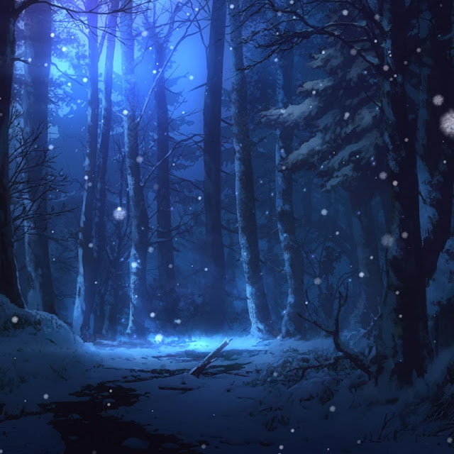Snowing in The Forest Wallpaper Engine