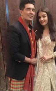Aishwarya Rai Bachchan with fashion designer Manish Malhotra