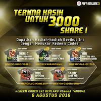 Kumpulan Coupon Code Redeem Garena FIFA Online 3 Indonesia Terbaru