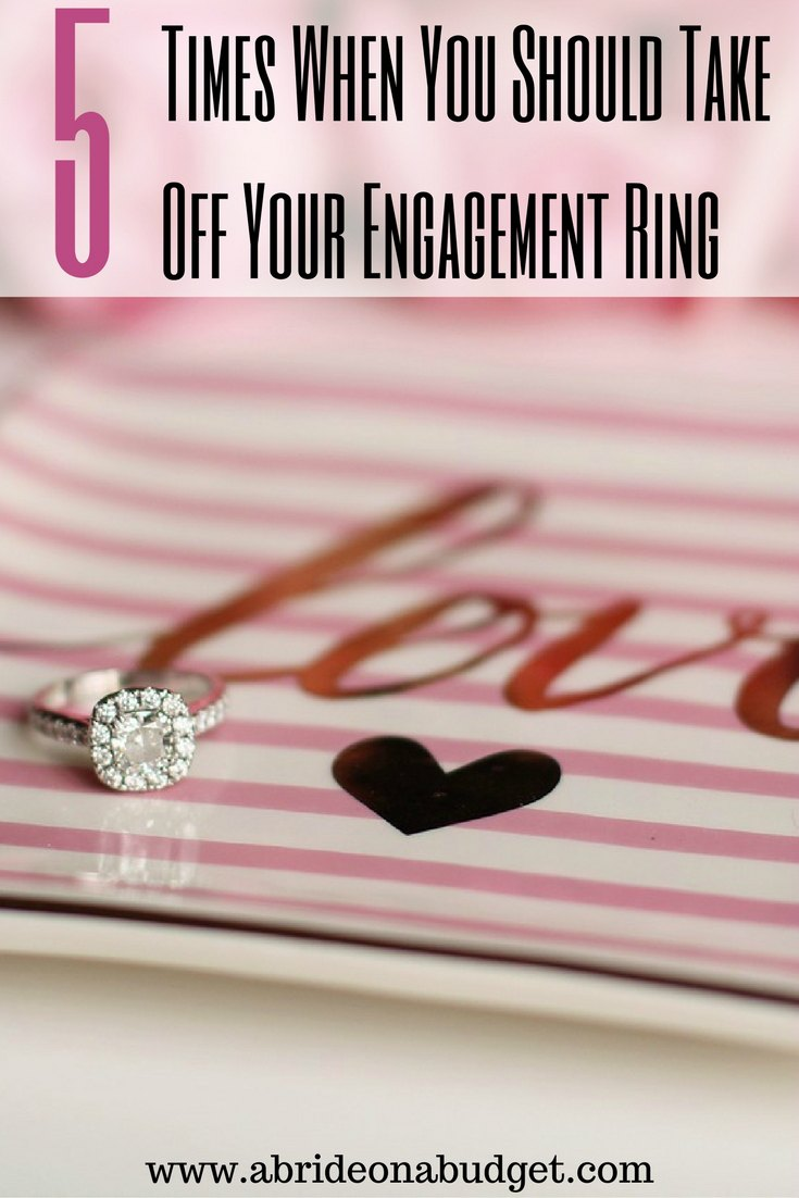 5 times when you should take off your engagement ring a for Where should you wear your wedding ring