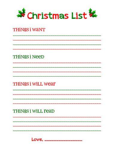 Christmas Wish List Form Extraordinary Teen Girl Christmas Wishlist For 2017  Merry Christmas Greetings .