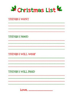 Teen Girl Christmas Wishlist Printable