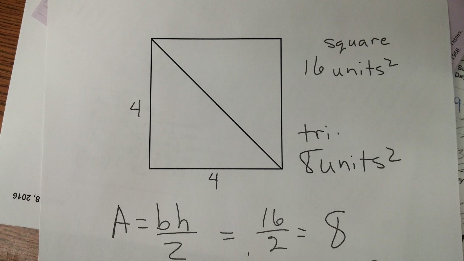 Mrswarren Math On Team Vista Formulas P A V Day 2 Notes And Diagrams Updated