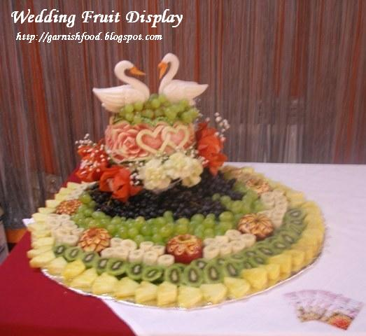 wedding fruit display