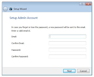 setup admin account