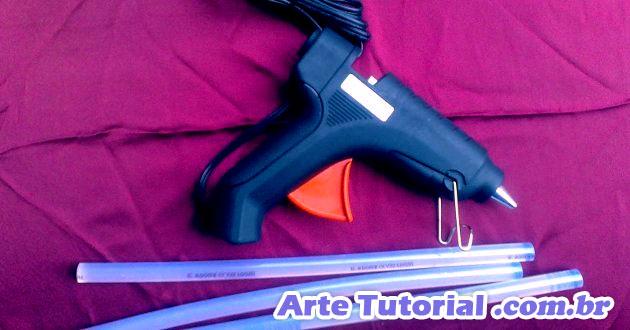 Pistola de cola quente (refil silicone)